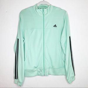 Adidas Mint Green Track Jacket Zip Up Large